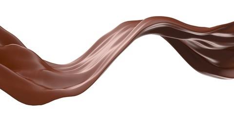 Foto auf Leinwand Schokolade Shiny sweet chocolate liquid splash.