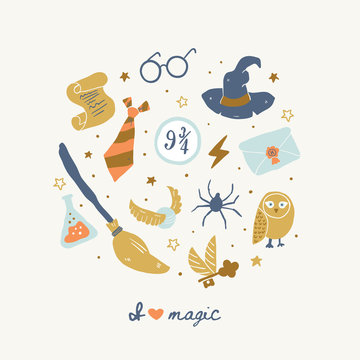 Different elements for witches at school of magic