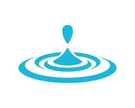 Water Drop and Water Splash Symbol