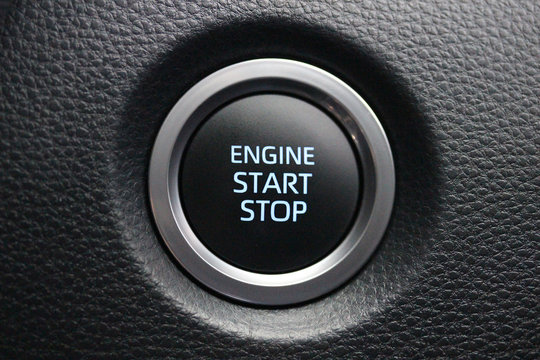 Car engine start stop button