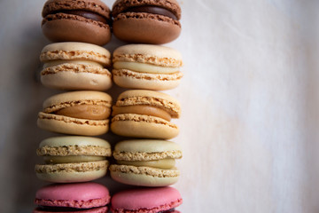 Colorful Macaroons on the table
