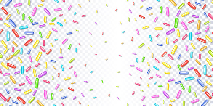 Sprinkles grainy on a transparent background