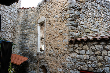 Old buildings in the picturesque medieval village of Eze, France.