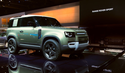 New 2020 Land Rover Defender car presented at the Frankfurt IAA Motor