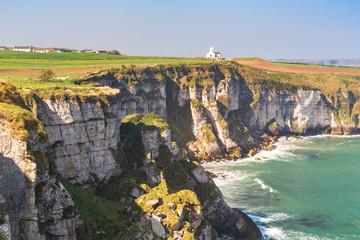 United Kingdom, Northern Ireland, County Antrim, Antrim coast, Ballintoy, The church