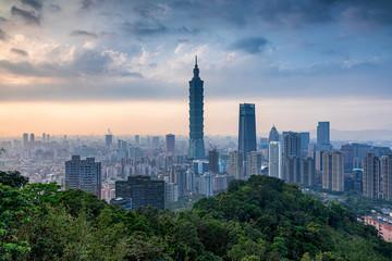 台湾・象山からの台北の風景