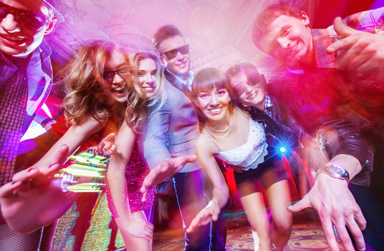 dancing party in nigh club
