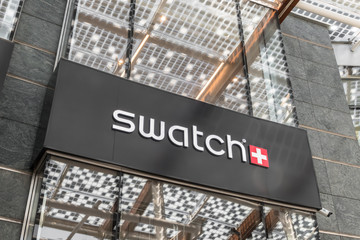 Swatch store sign