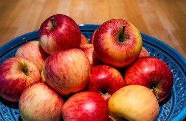 Apples from organic farming in a shell