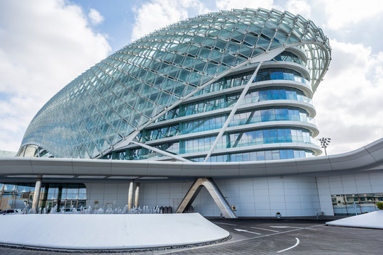 The Viceroy Hotel in Abu Dhabi which is known for its hosting of Formula One Grand Prix races on January 05, 2017 in Abu Dhabi, United Arab Emirates