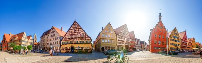 Fotorollo Panoramafotos Panorama, Dinkelsbühl, Bayern, Deutschland