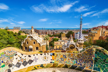 Panoramic view of Barcelona, Spain.