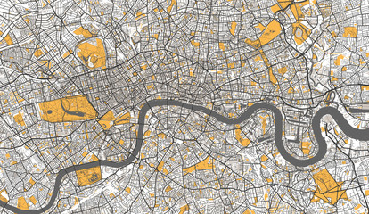 Detailed Map of London, UK