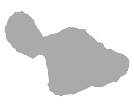 Karte von Maui