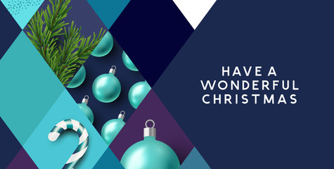 Festive Christmas Abstract Background
