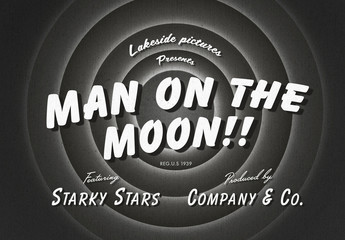 Vintage Black and White Movie Title Text Effect