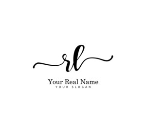 RL Initial beauty monogram logo vector
