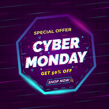 special offer cyber monday, vector file
