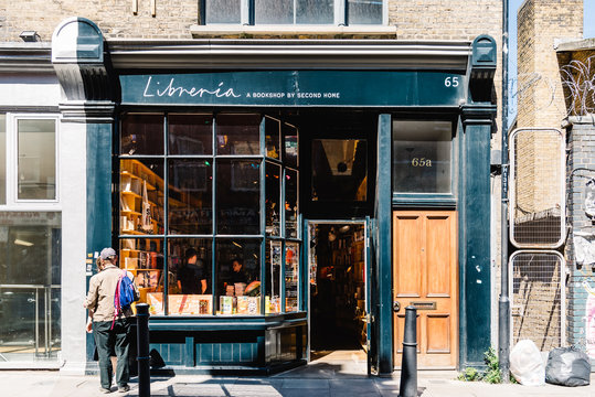 Cozy bookshop in Brick Lane in London