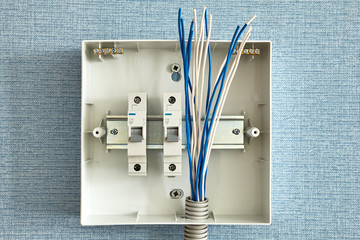 Home electrical wiring, switchboard installation.
