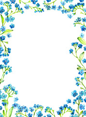 blue forget-me-not frame