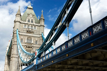 Tower bridge  in London city  ( United Kingdom )
