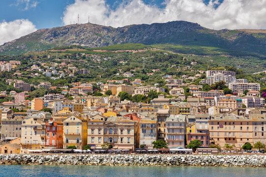 View of Bastia, Corsica island, France.