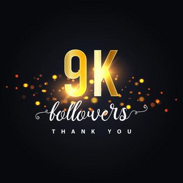 9k Followers thank you design