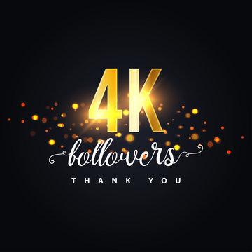 4k Followers thank you design