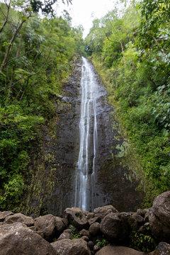 Manoa Falls Waterfall, Lyon Arboretum, Oahu, Hawaii, United States of America