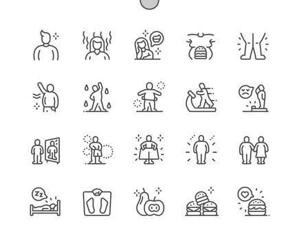 Overweight Well-crafted Pixel Perfect Vector Thin Line Icons 30 2x Grid for Web Graphics and Apps. Simple Minimal Pictogram