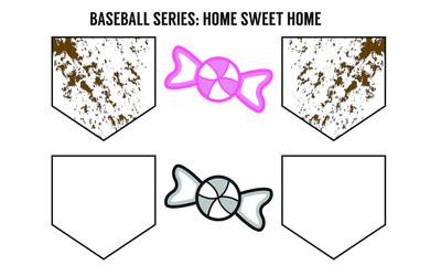 Baseball Home Sweet Home - Vector Art