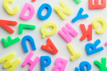 Letter to learn spelling,Colorful letter help children to learn on white background