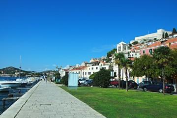 Croatia-view of a embankment in town Sibenik