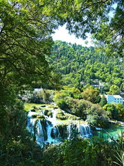 Croatia-view of a waterfall on a river Krka in the Krka National Park