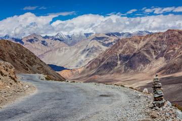Road in Himalayas near Kardung La pass