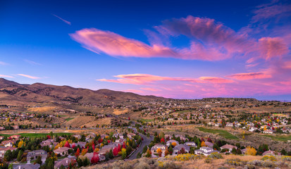 Fall colors in Reno, NV