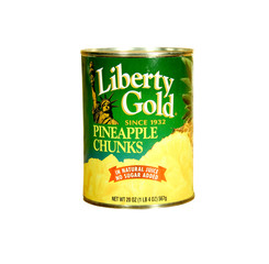 can of Liberty Gold Pineapple Chunks