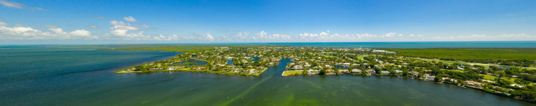 Aerial panorama Ocean Reef Club North Key Largo Florida