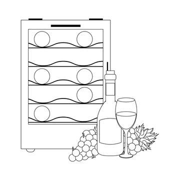 wine cooler fridge icon image