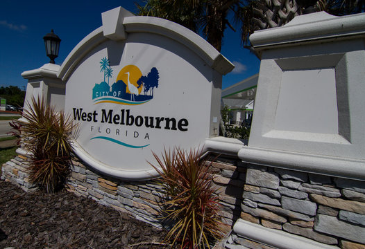Welcome sign to West Melbourne Florida