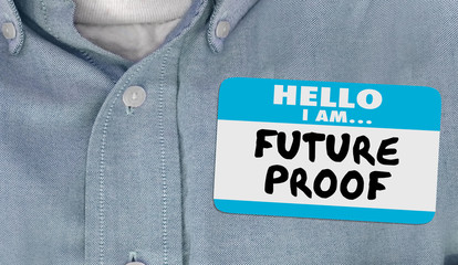 Future Proof Nametag Ready for Change Innovation 3d Animation