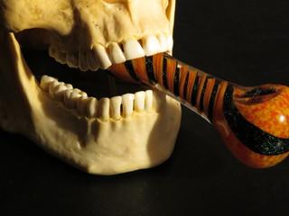 Halloween skull and smoke