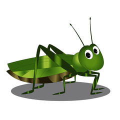Grasshopper with Expressions - Cartoon Vector Image