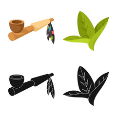 Vector design of accessories and harm icon. Collection of accessories and euphoria vector icon for stock.