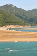 Basque country landscape in Urdaibai Biosphere reserve estuary. Spain