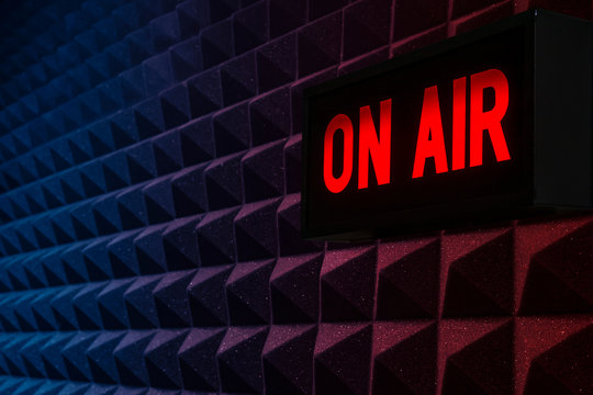 for radio stations: background with on air sign
