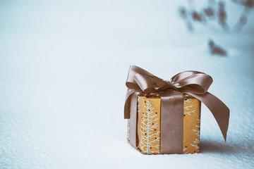 Christmas - gift on the snow