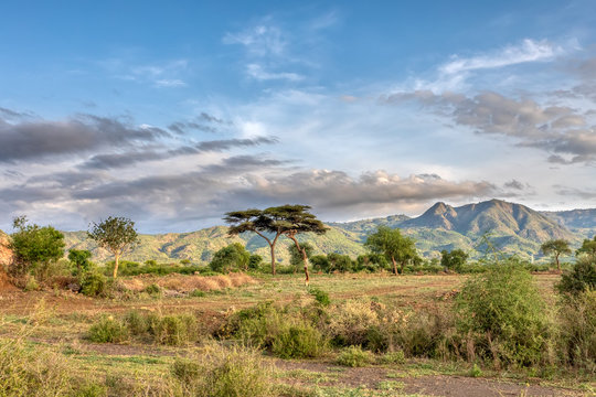 ethiopian landscape near Arba Minch. Ethiopia Southern Nations Region, Africa Omo valley wilderness
