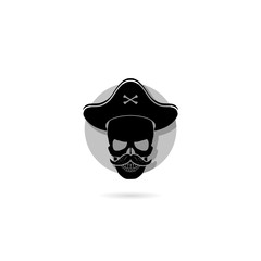 Pirate icon isolated on white background